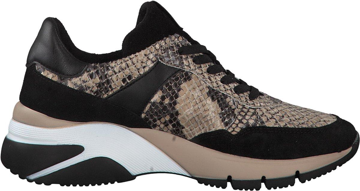 Tamaris Dames Sneaker Beige zwart Maat 41