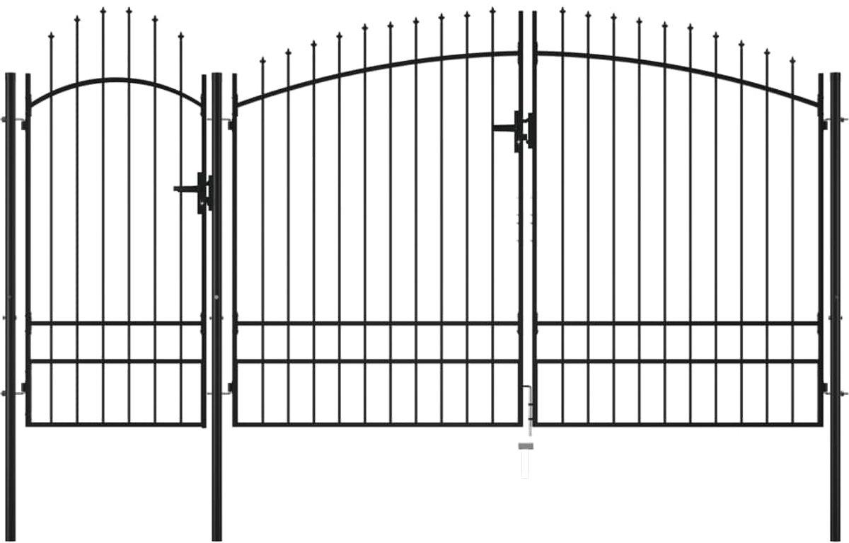 Poort 2,45x4 m staal zwart (incl. tyraps) kopen