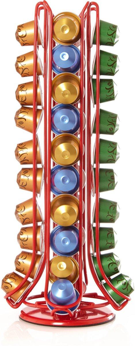 Lumaland - capsulehouder - draaibaar - 40 stuks - Recht Rood kopen