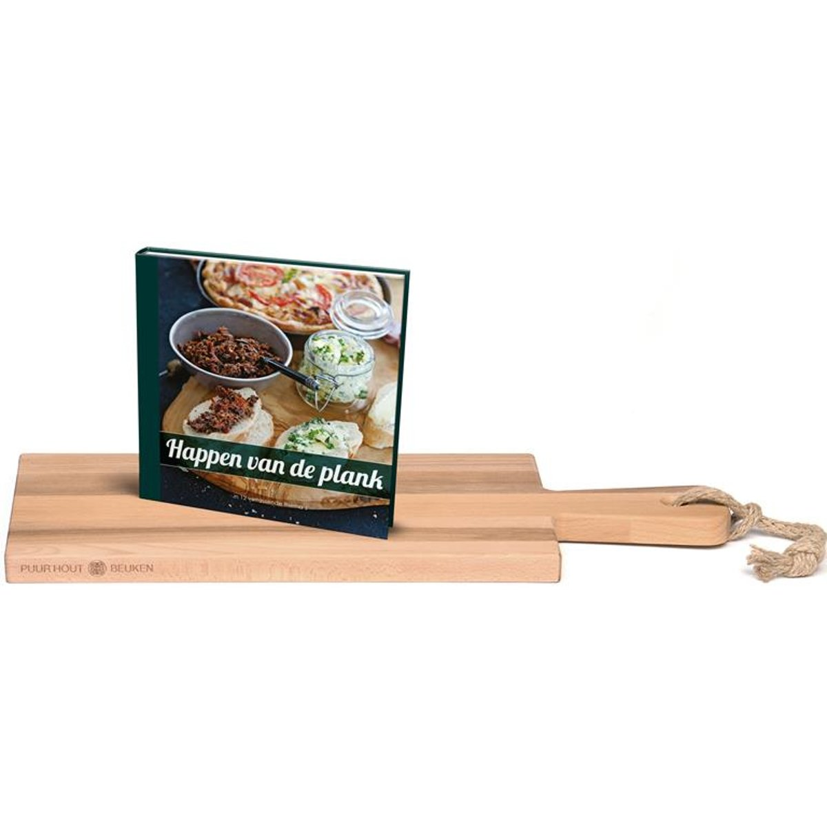 Bowls&Disches - Set - Puur Hout Serveerplank 49cm Happen plank kopen