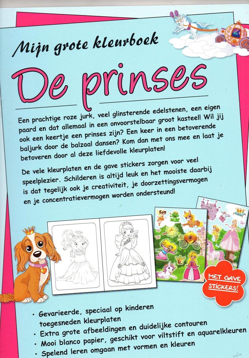 Bol Com Mijngrote Kleurboek De Prinses Met Stickers Merkloos