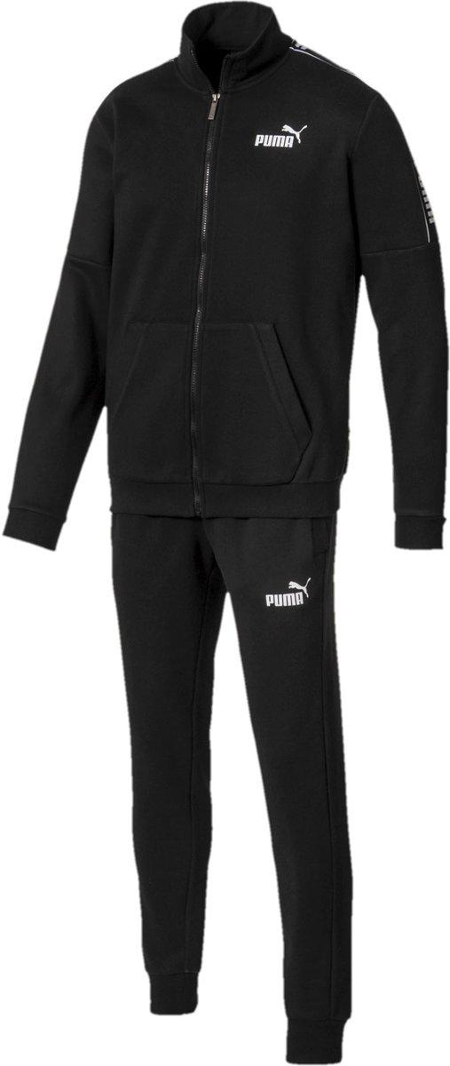 PUMA Amplified Sweat Suit Joggingpak Heren - Cotton Black - Maat S