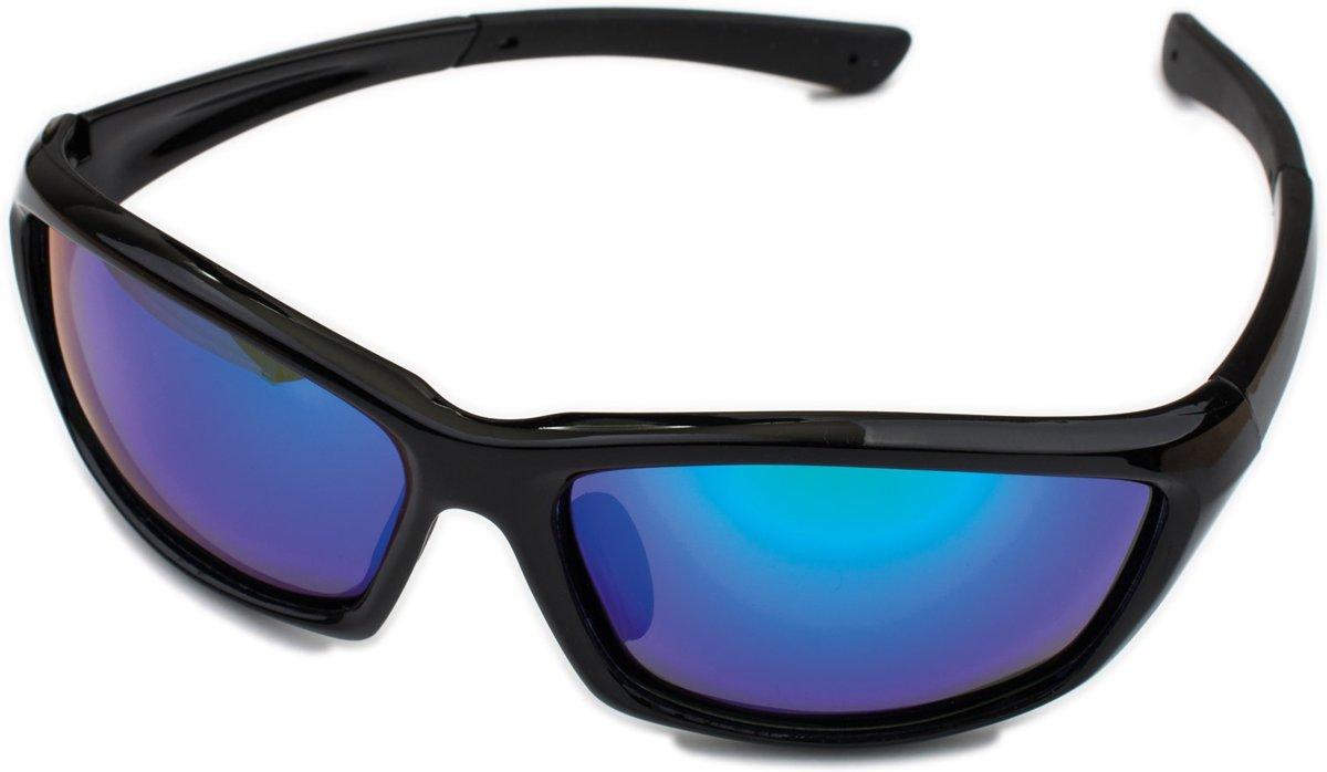 fce54f4551d9df Polariserende Zonnebril PolarPower Antislip Flexibel Blauw Zwart  Spiegelglas– Bootbril Sportzonnebril Sport Vis Boot Fiets Fietsbril  Visbril Spiegelglazen ...