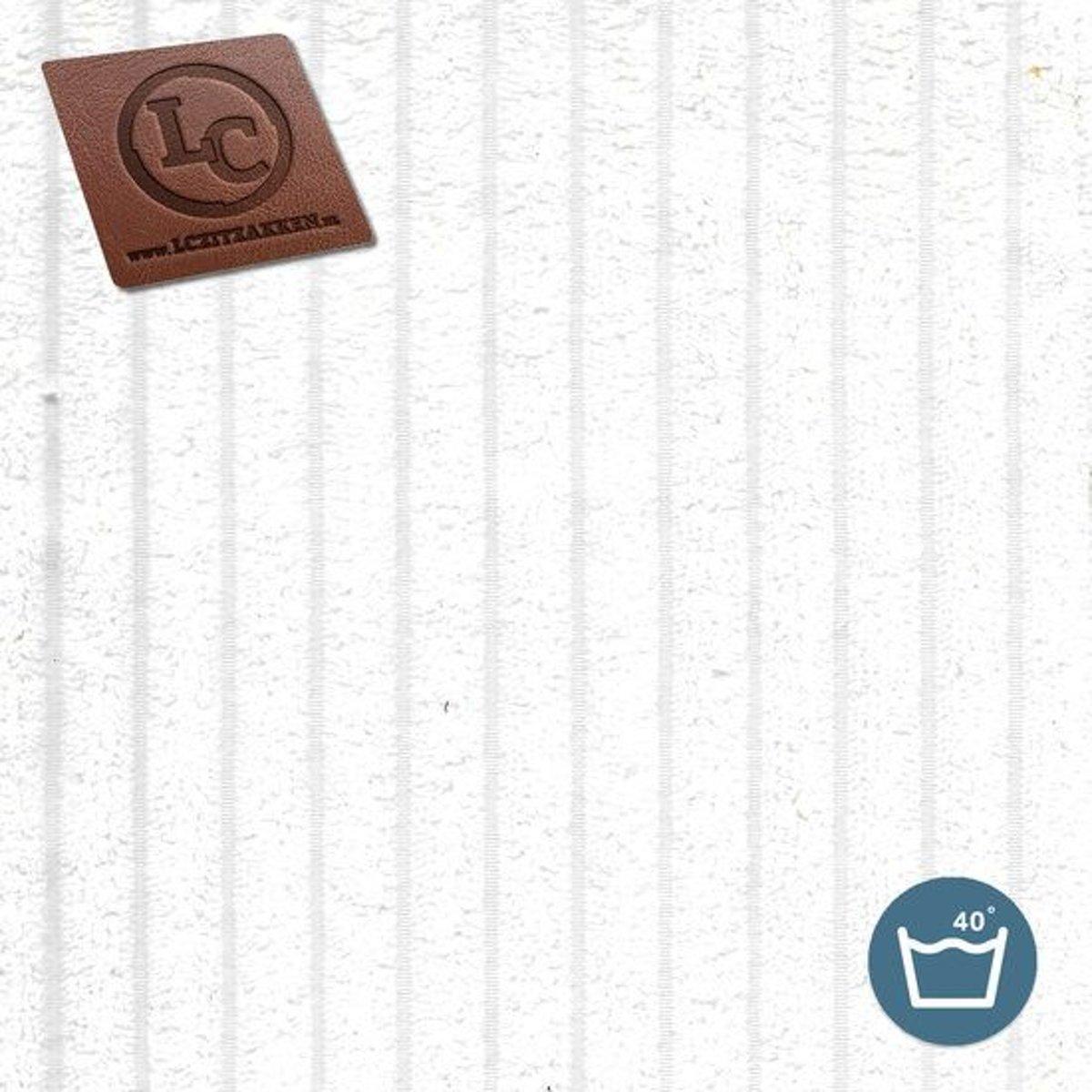 LC Zitzak hoes Bali ribcord wit - Wasbaar - Zacht en comfortabel kopen
