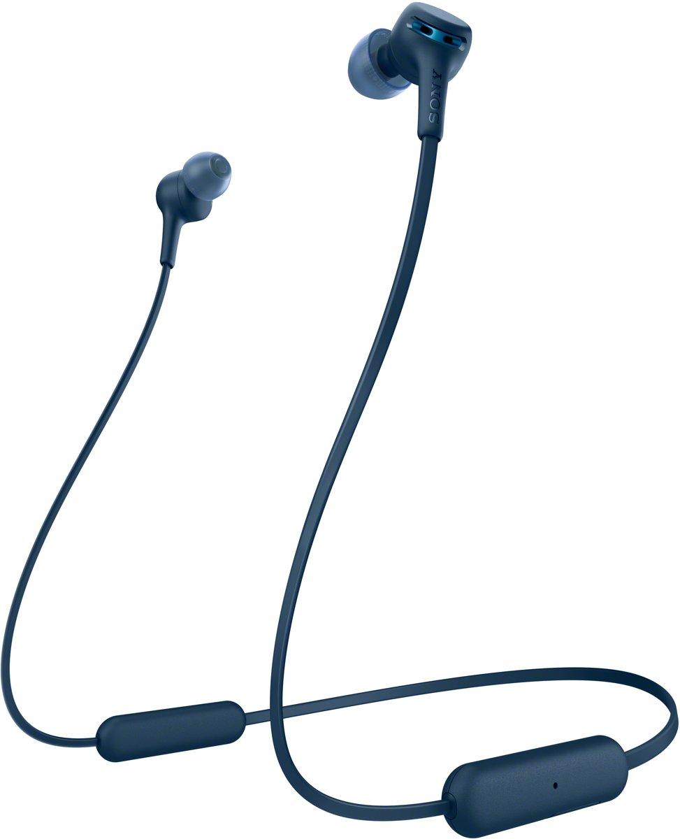 Sony WI-XB400 - Draadloze in-ear oordopjes met nekband - Blauw kopen