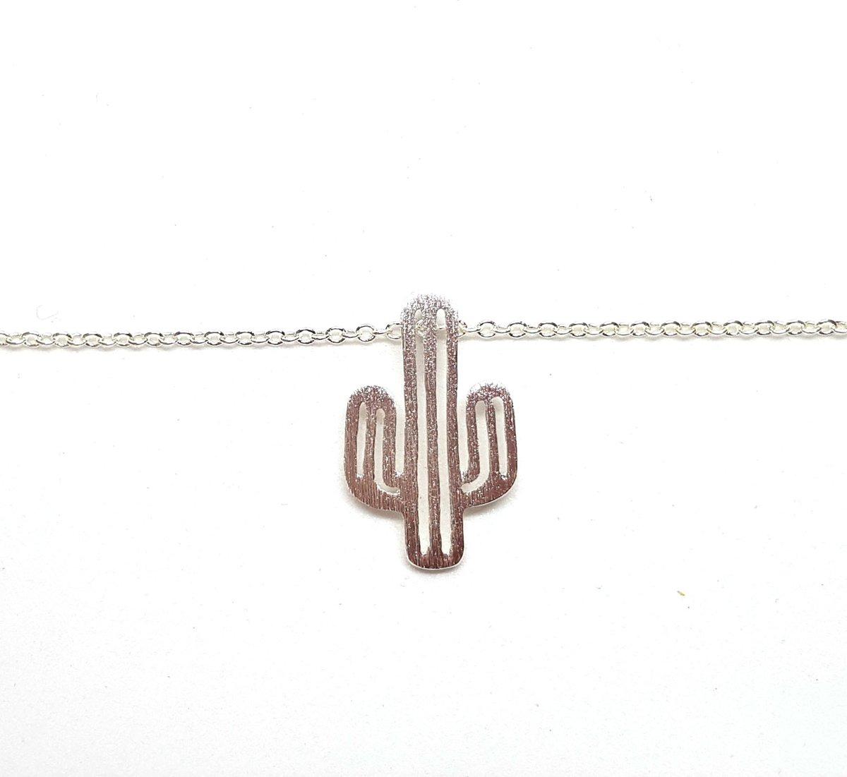 Zilveren cactus ketting kopen