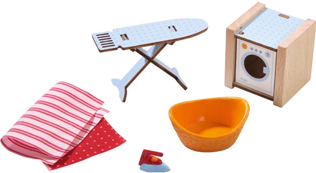Haba - Little Friends - accessoires voor het poppenhuis - Wasdag