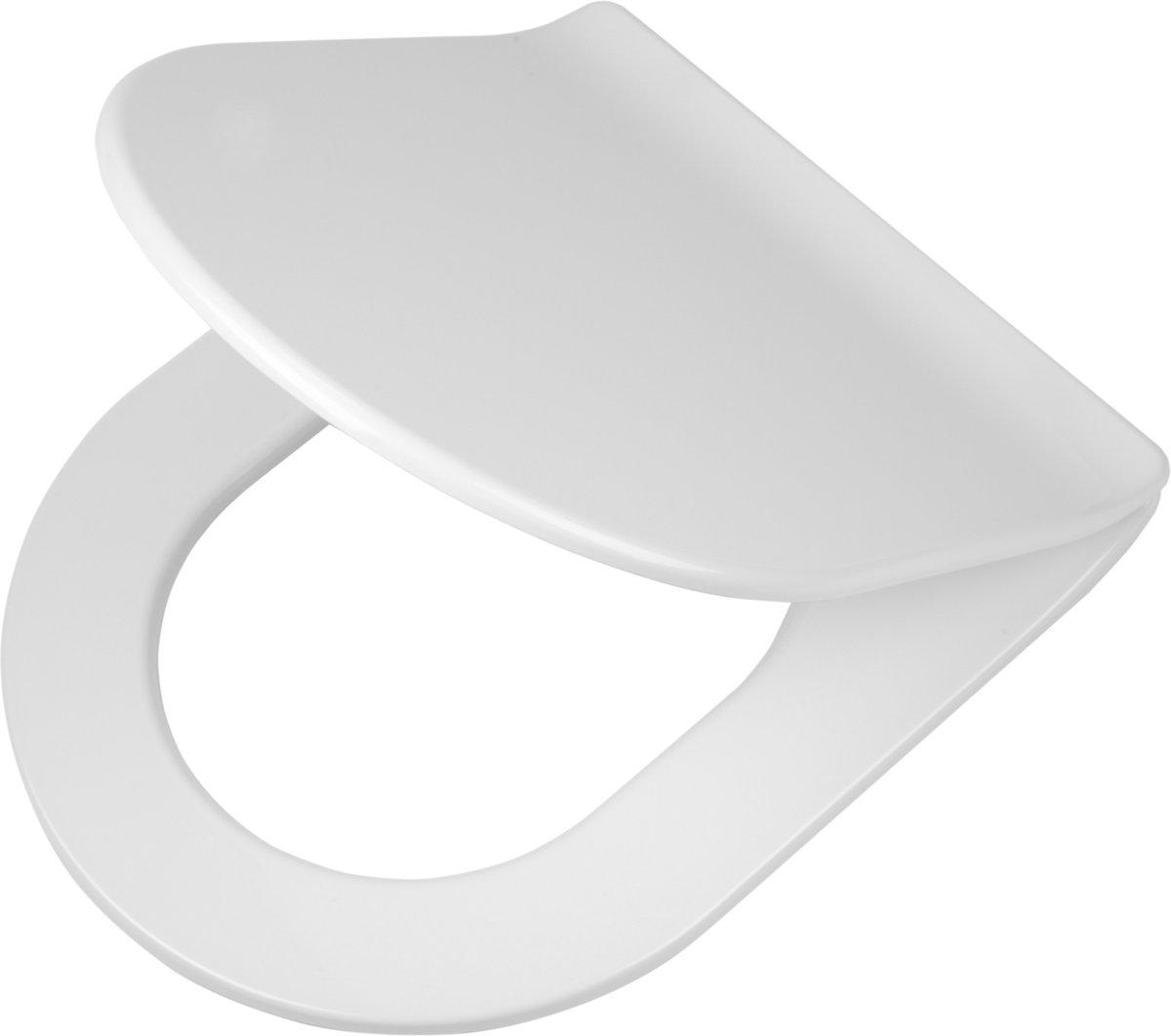 Tiger Carter wc-bril met D-vorm - Softclose - Duroplast - Afklikbaar - Wit kopen