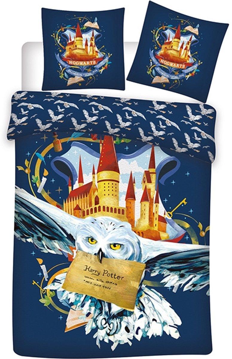 Harry Potter Hedwig Dekbedovertrek - Eenpersoons - 140 x 200 cm - Multi kopen