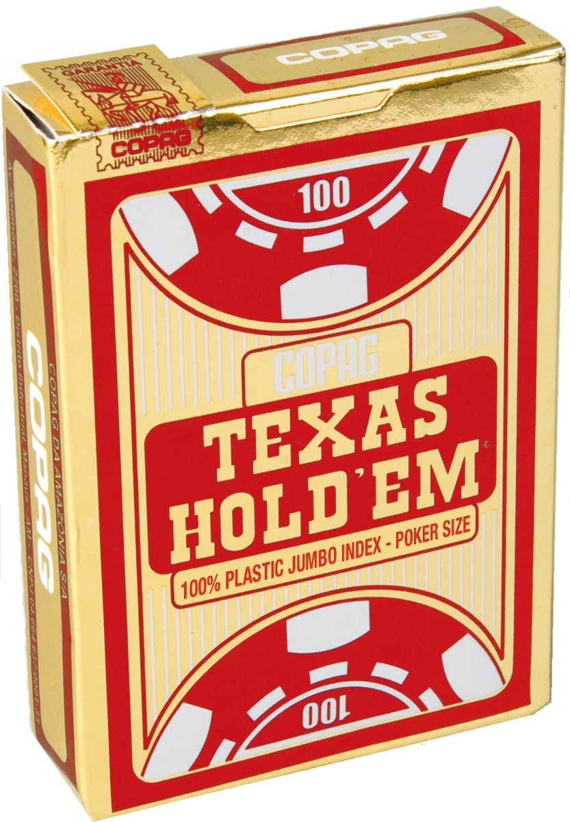 Copag Texas HoldÔÇÖem Gold pokerkaarten - Jumbo Index - Red