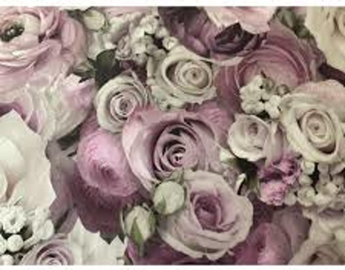 Behang bloemen