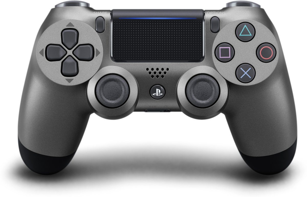 PS4, Wireless Dualshock 4 Controller V2 - Steel Black voor €36,99 dmv code
