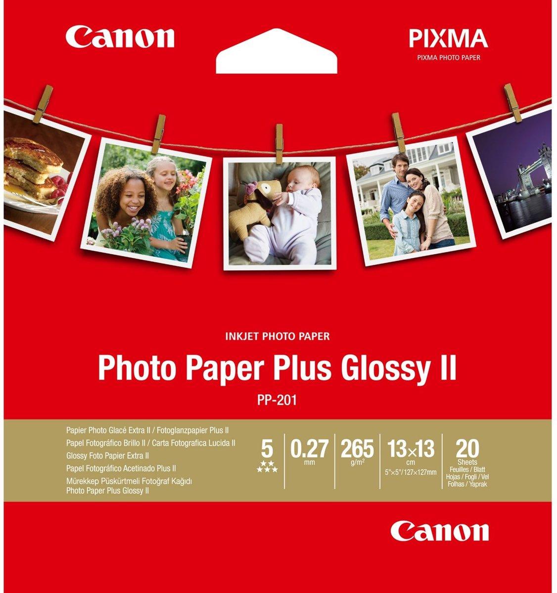 Bolcom Canon Plus Glossy Ii Wit Fotopapier 20 Vellen 13 X 13 Cm