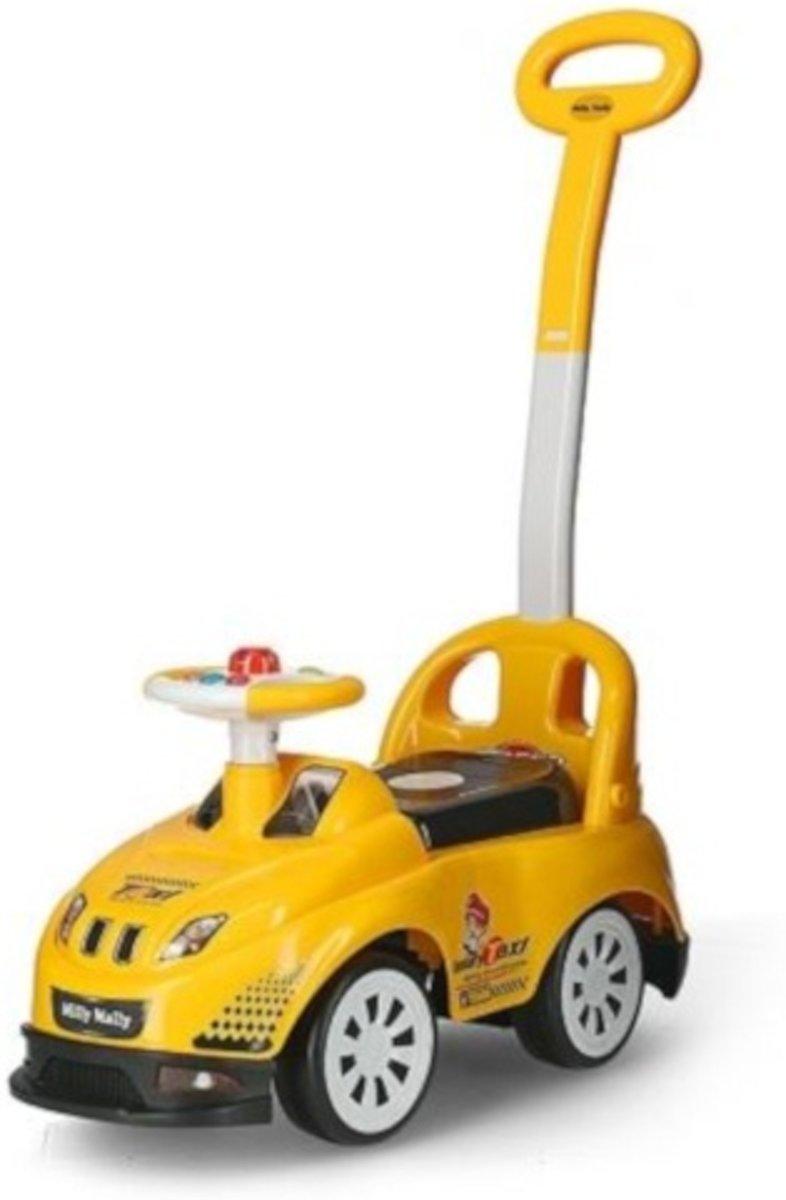 Milly Mally Ride On Bravo Loopwagen Taxi Junior Geel