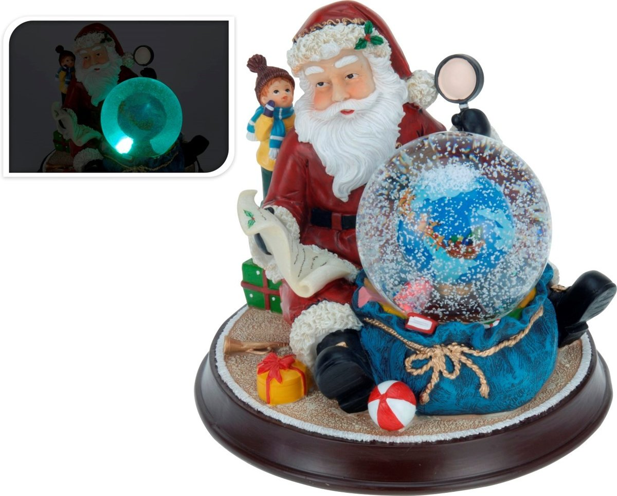 Waterbal - Waterbol - Schuddebol - Sneeuwbol - Kerstman bij Wereldbol kopen