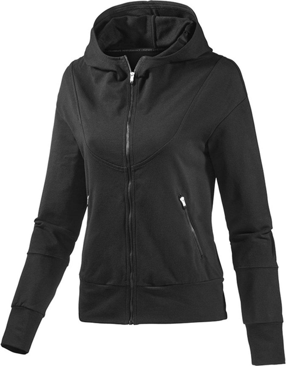 dd1c62d3717 Adidas Hooded TT - Adidas Dames Vest - Zwart - Sport - G70812 - XS