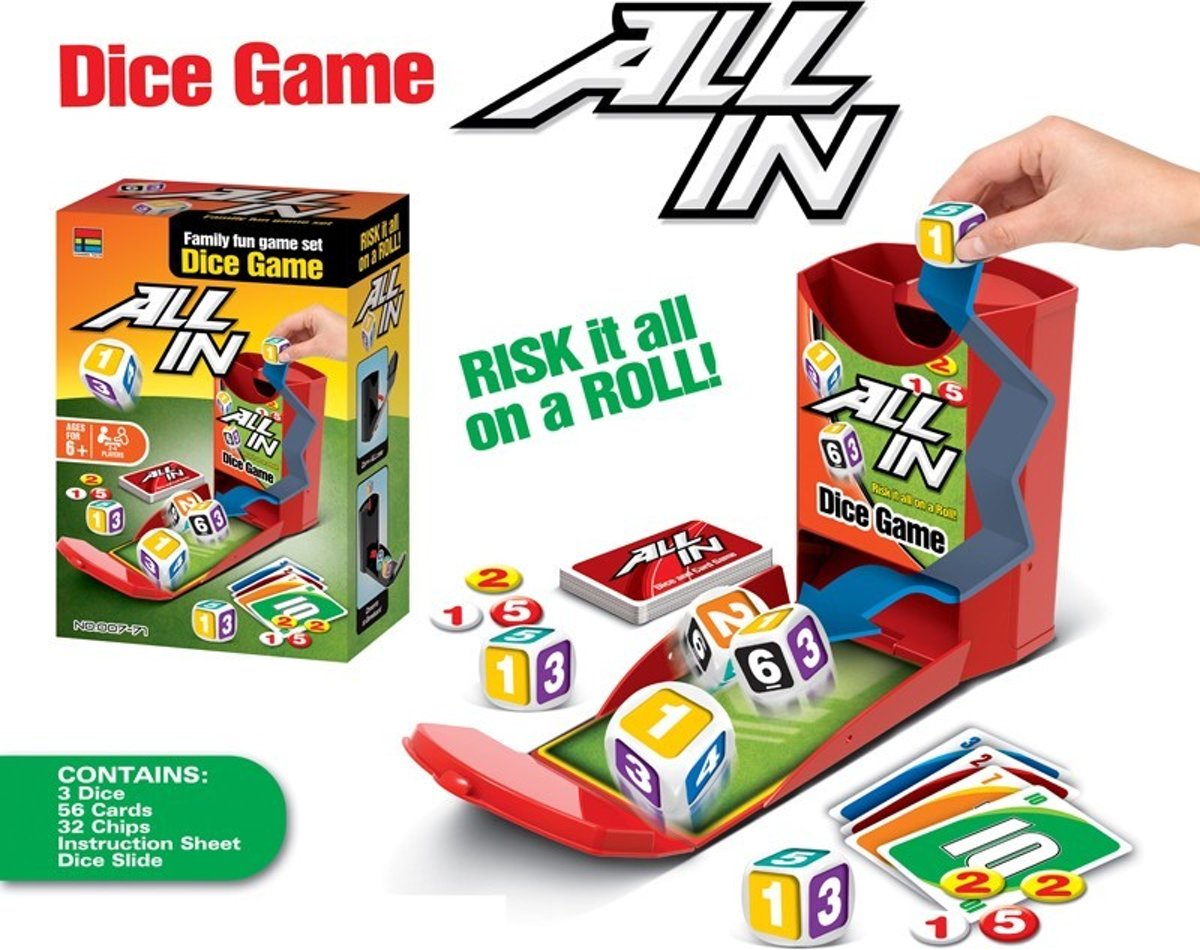 All In Dice Game dobbelspel kaartspel