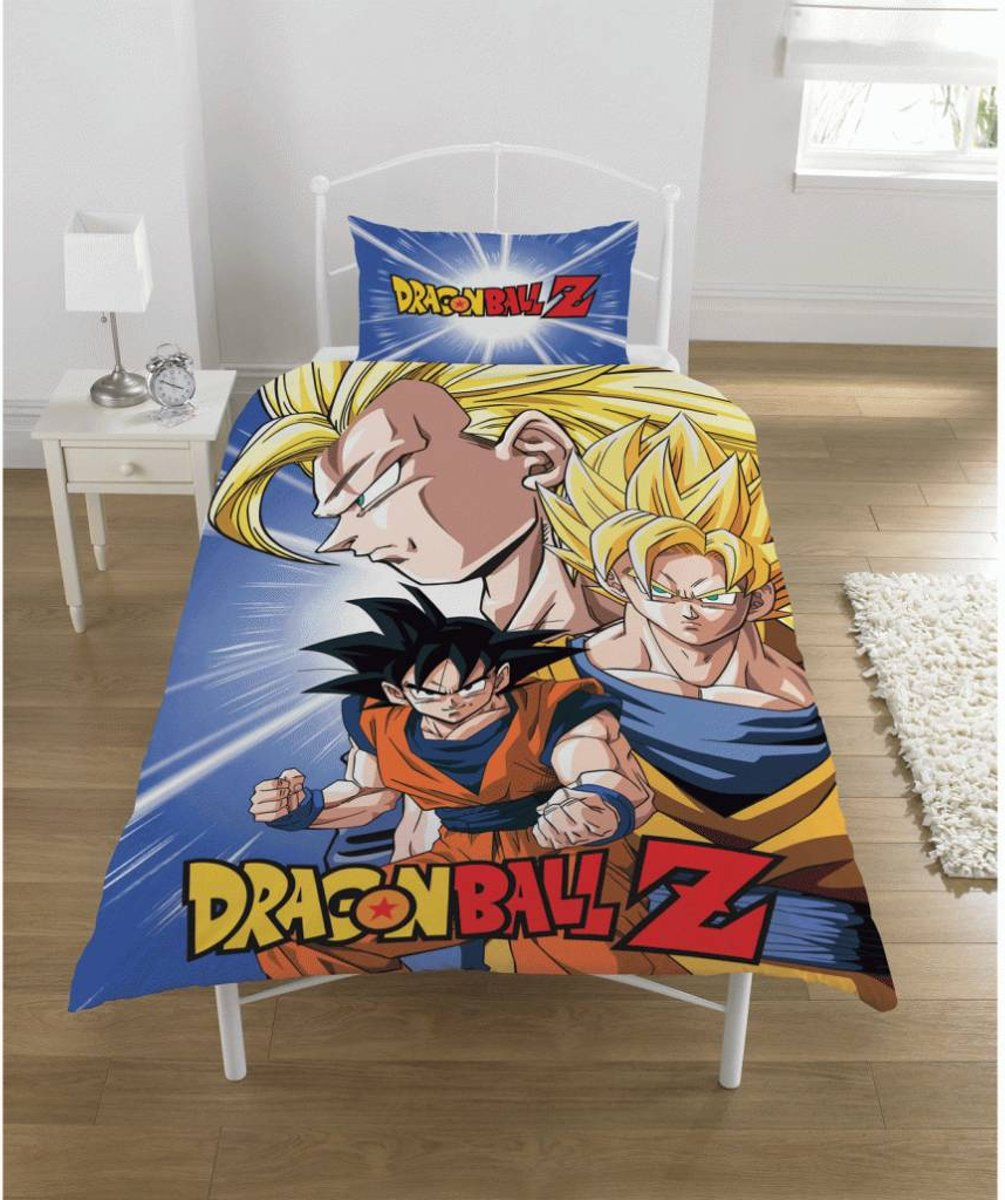Dragon Ball Z Battle - Dekbedovertrek - Eenpersoons - 135x 200 cm - Multi kopen