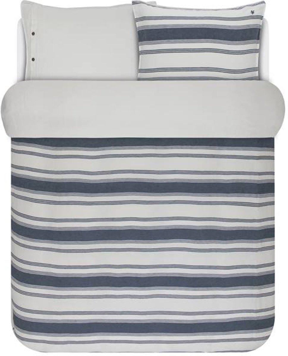Marc O'Polo Osi - Dekbedovertrek - 60% katoen / 40% linnen - Lits-jumeaux - 240x200/220 cm + 2 kussenslopen 60x70 cm - Blue kopen