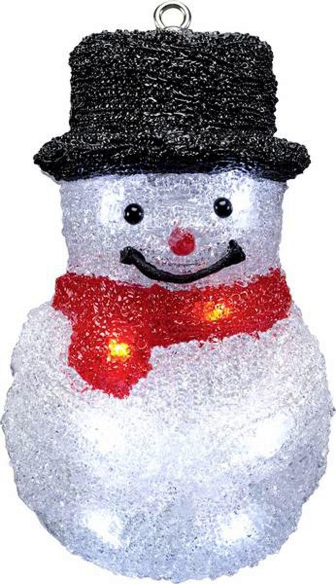 Kerstverlichting binnen - Sneeuwpop kerst LED - Polarlite 22 cm - werkt op batterijen kopen