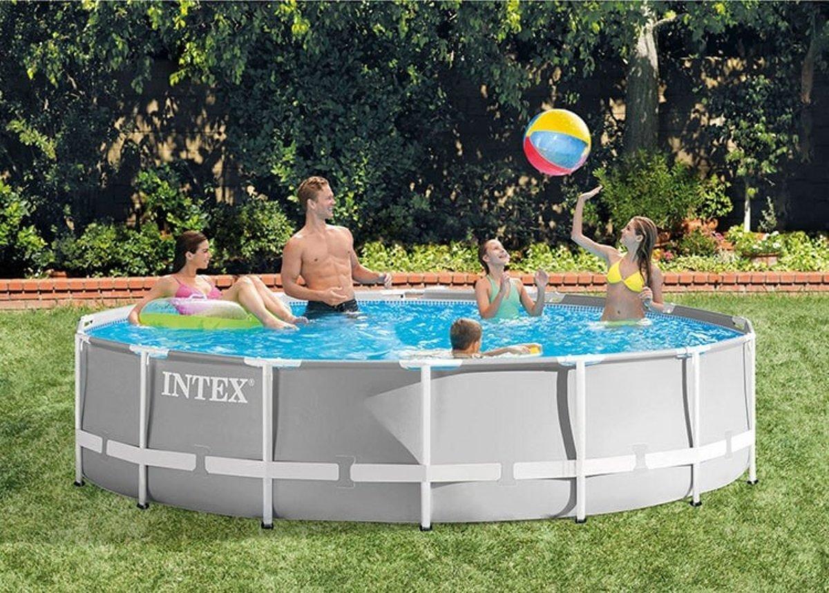 Intex Prism Frame zwembad 427 x 107 cm (met reparatiesetje)
