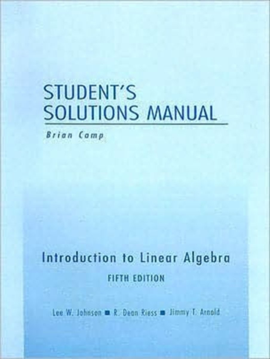 bol.com | Student Solutions Manual for Introduction to Linear Algebra |  9780201658606 | Lee W..