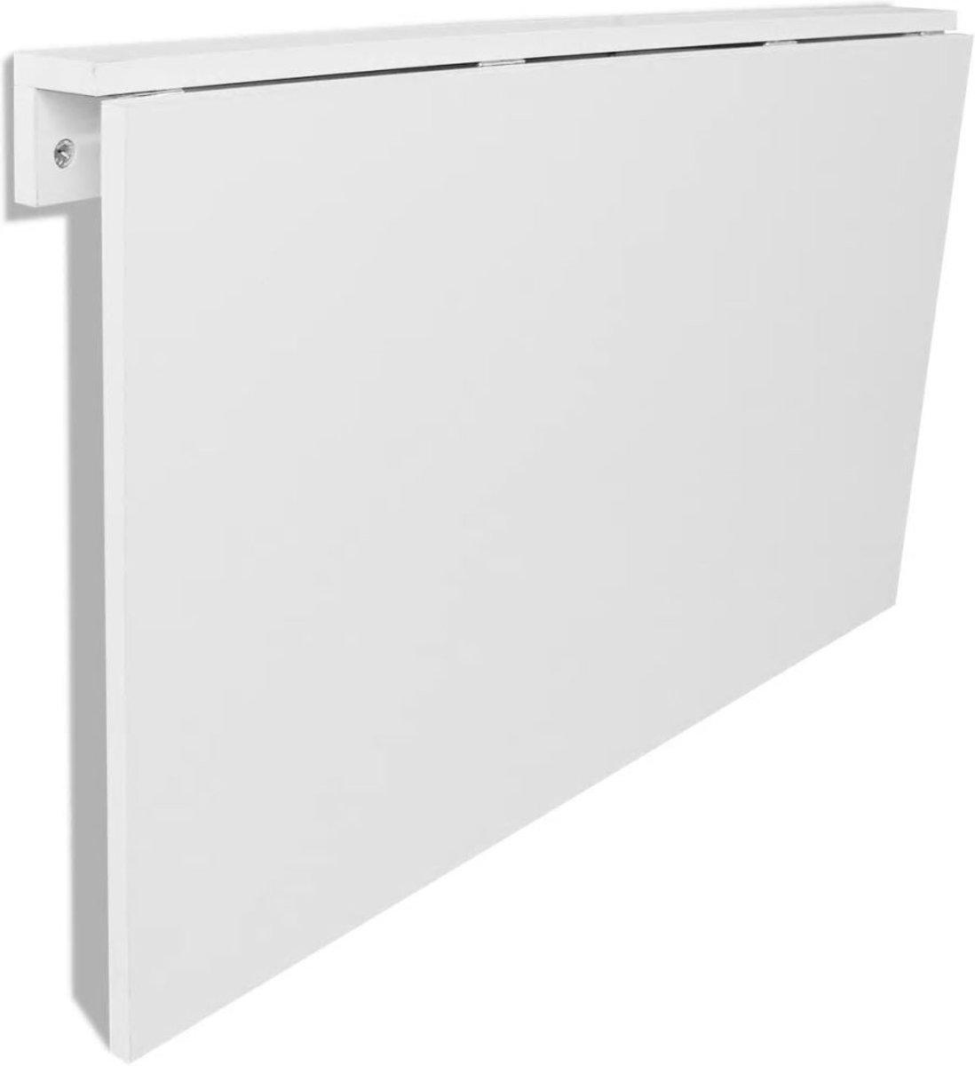 Opklap Tafel Voor Aan De Muur.Vidaxl Wandtafel Inklapbaar 100x60 Cm Wit