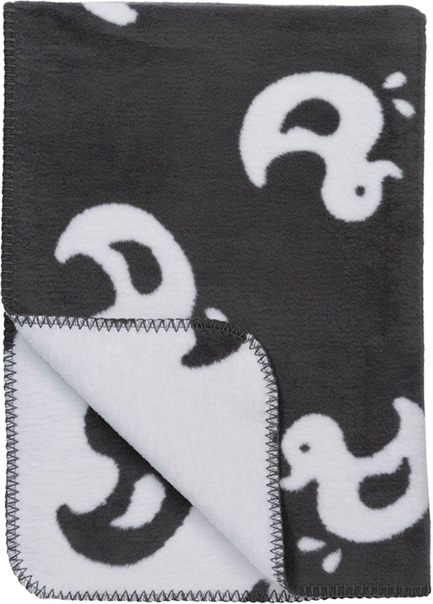 Meyco Duck bio wiegdeken - 75 x 100 cm - grijs