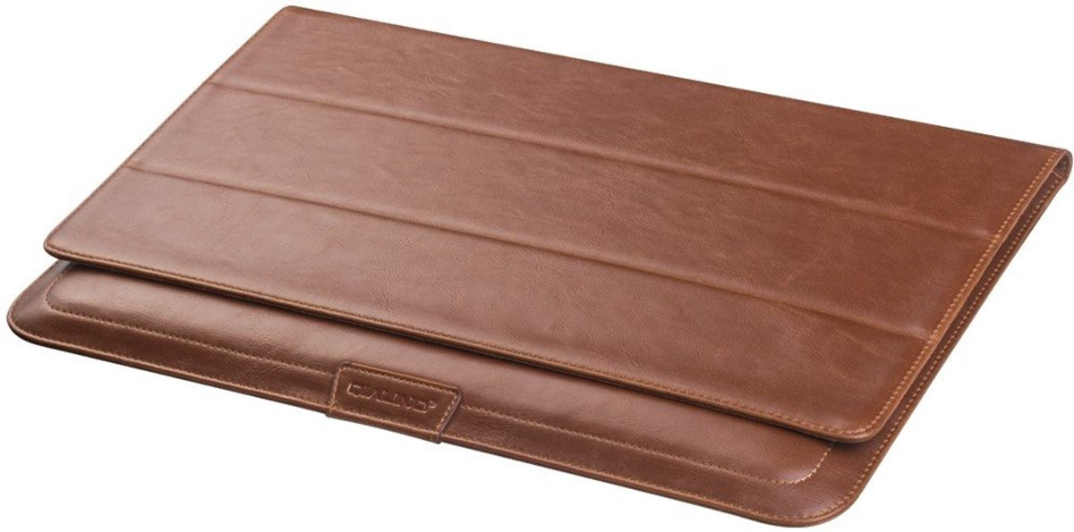 731035aab26 bol.com | Qialino - MacBook 12-inch Hoes - Sleeve Leather Bruin