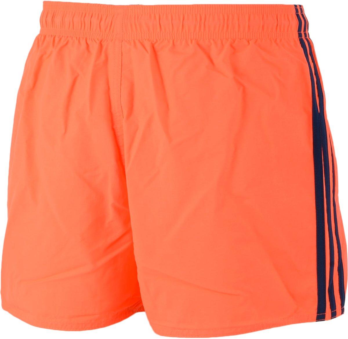 bol.com | adidas 3 Stripes Authentic - Zwembroek - Mannen - Maat XL -  Oranje/ Zwart