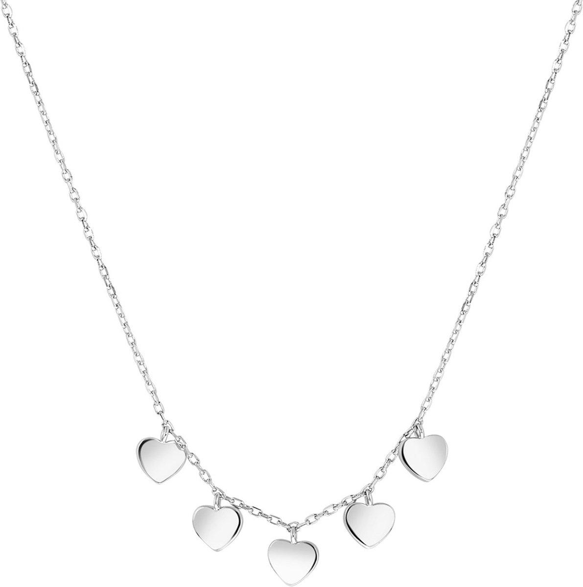 Lucardi - Zilveren ketting bedels harten kopen