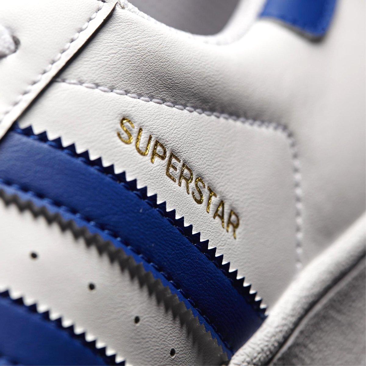 adidas superstar dames blauwe strepen