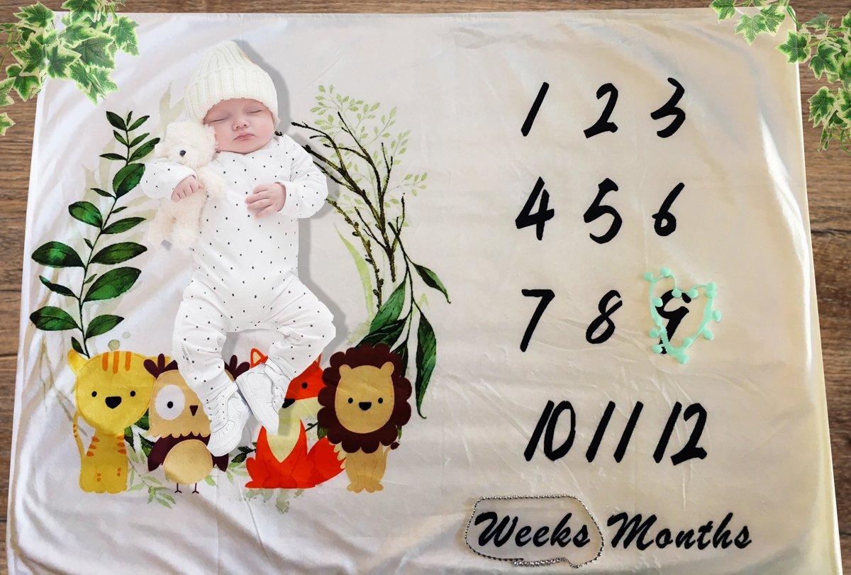 Kraamcadeau |Baby | Milestonedeken | Fotodeken | Mijlpaaldeken | Milestone | Fleece | Soft | Zachte deken | Mijlpaalmoment | Fotoherinnering | Babyshower | Fotomoment met je kindje