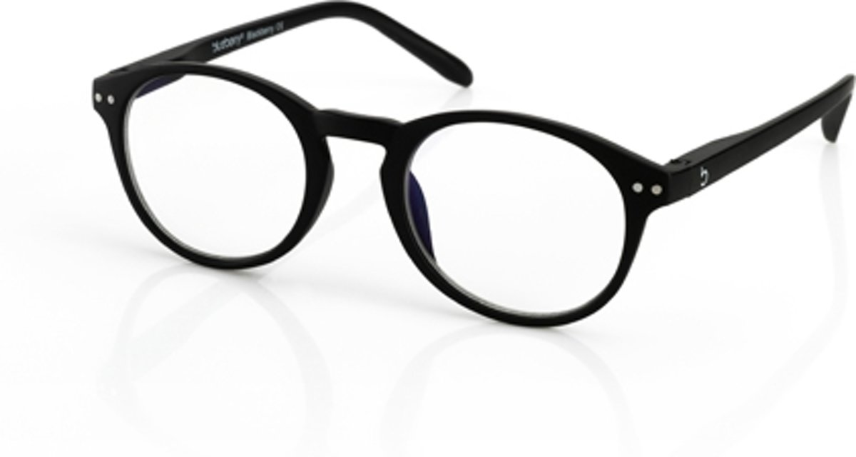 Foto van Blueberry Glasses Leesbril Retro zwart +1.5