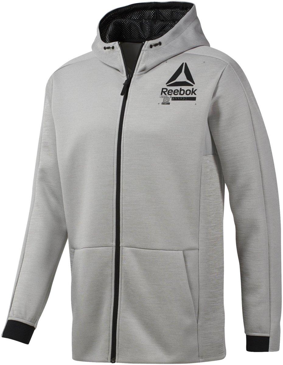 Reebok Ost Spacer Fz Hoodie Sportvest Heren Mgh Solid Grey