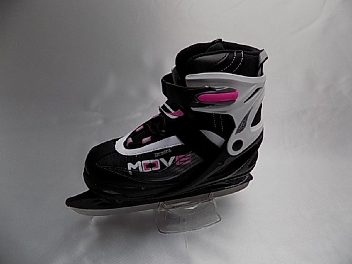 MOVE verstelbare schaats maat 34-37 met roze accenten