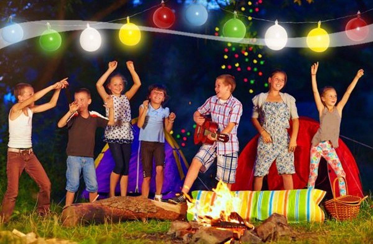 Ballonnen slinger met gekleurde LED verlichting | Ballon | Slinger | Feest | Balloon Garland LED | 4 Meter