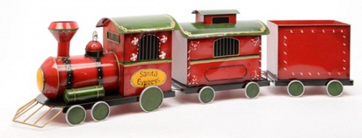 Luxe Kerst trein met ijzeren kerst locomotief met wagons kopen