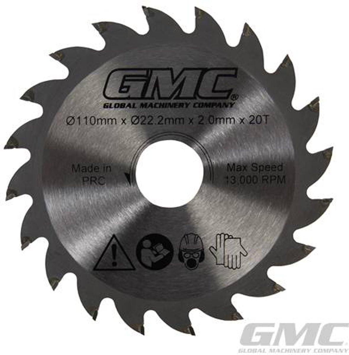 GMC GTS1500 TCT cirkelzaagblad Hardmetaal gepunt cirkelzaag,110 x 22,2 x 20 t