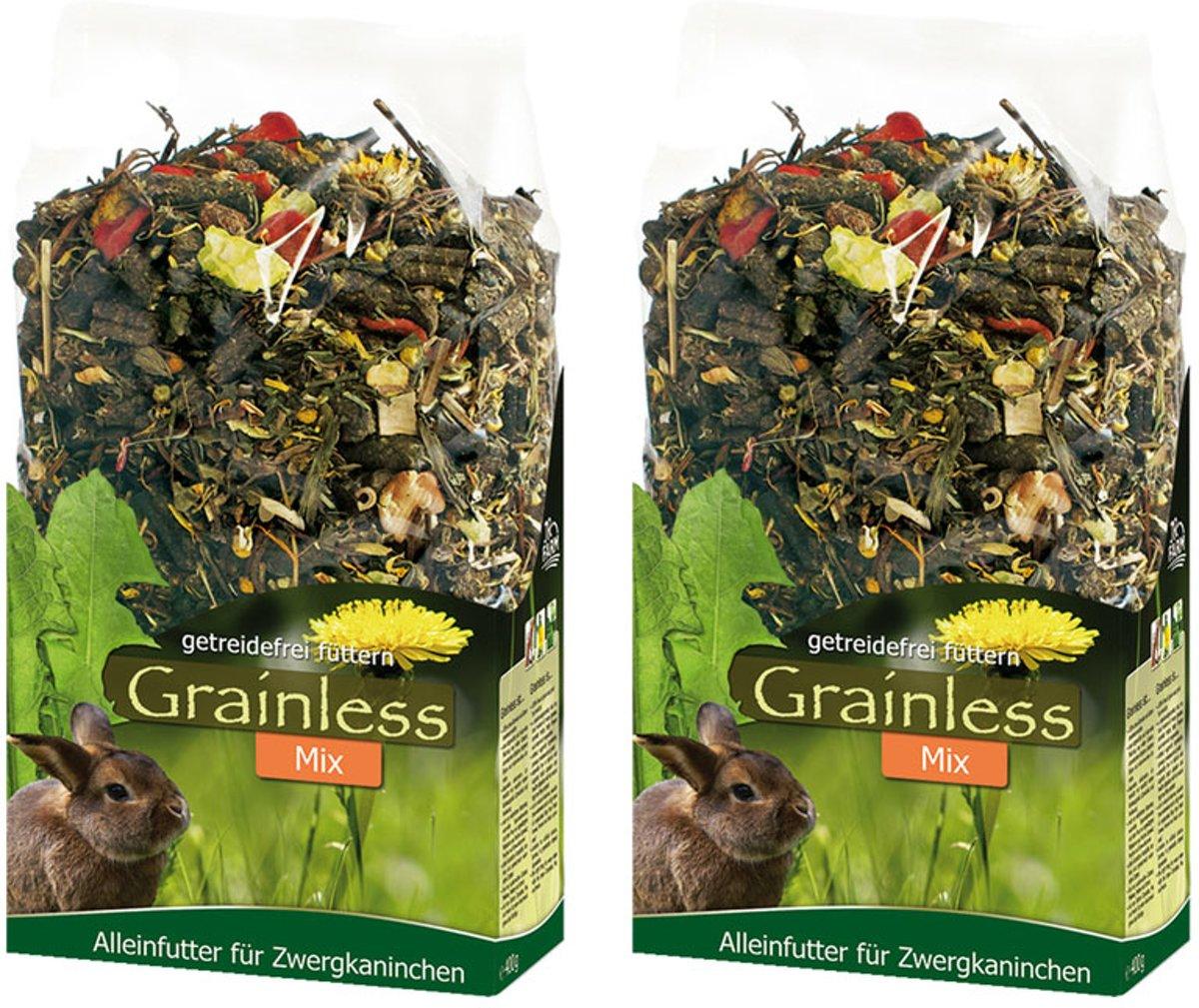 Graanvrij voer mix voor konijntjes 650 gr per 2 verpakkingen