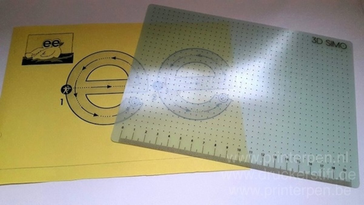 3DSIMO Drawing Pad (Hittebest. & Transparant) / let op: excl. 3d pen