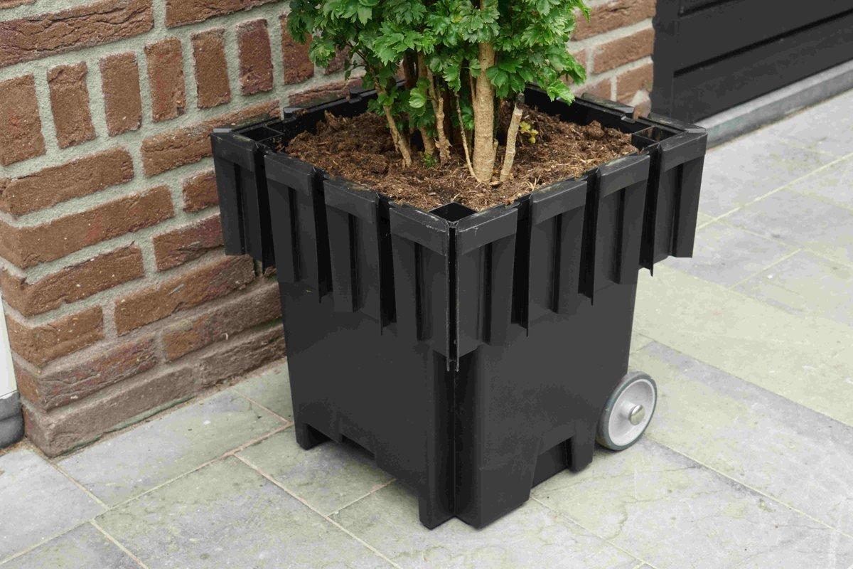 Plantenbakken Voor Buiten Groot.Yoepplanter Basisbak Plantenbak 3x Innovatie Koppelbare Verrijdbare En Wisselbaar Design Grote Bloembak Bloempot Plantenpot Binnen Buiten Tuin