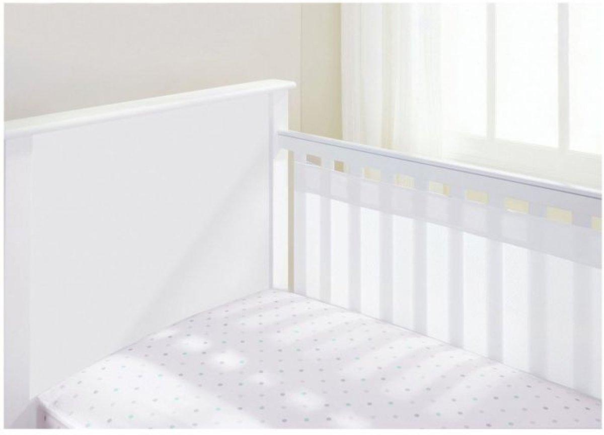 Ademend Baby-luchtstroom 2-zijdige cot-liner - wit