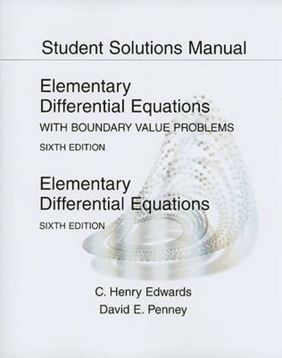 bol.com | Student Solutions Manual for Elementary Differential Equations |  9780136006152 | Henry.