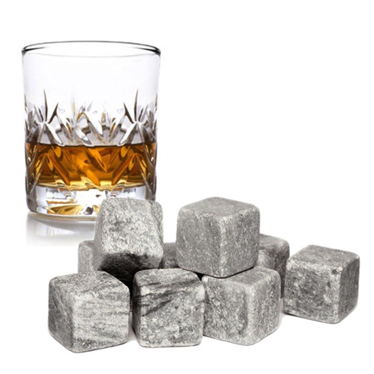 Whiskey stenen - Whiskey stones - Koelstenen - Ijsblokken 9 stuks kopen