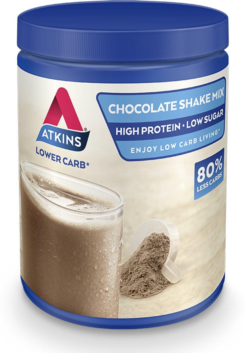 Foto van Atkins Advantage Chocolade Mix Maaltijdshake - 370 gram