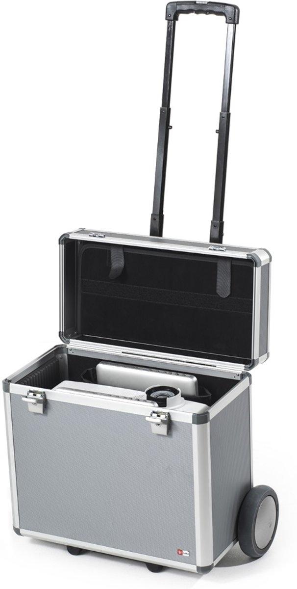 Hulshof Projector/Beamer Koffer met trolley: Luxe en universele beamer transportkoffer voor projector/beamer en laptop. kopen
