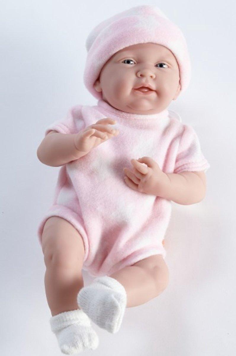 Berenguer babypop La Newborn 38 cm Meisje in roze pakje met ster