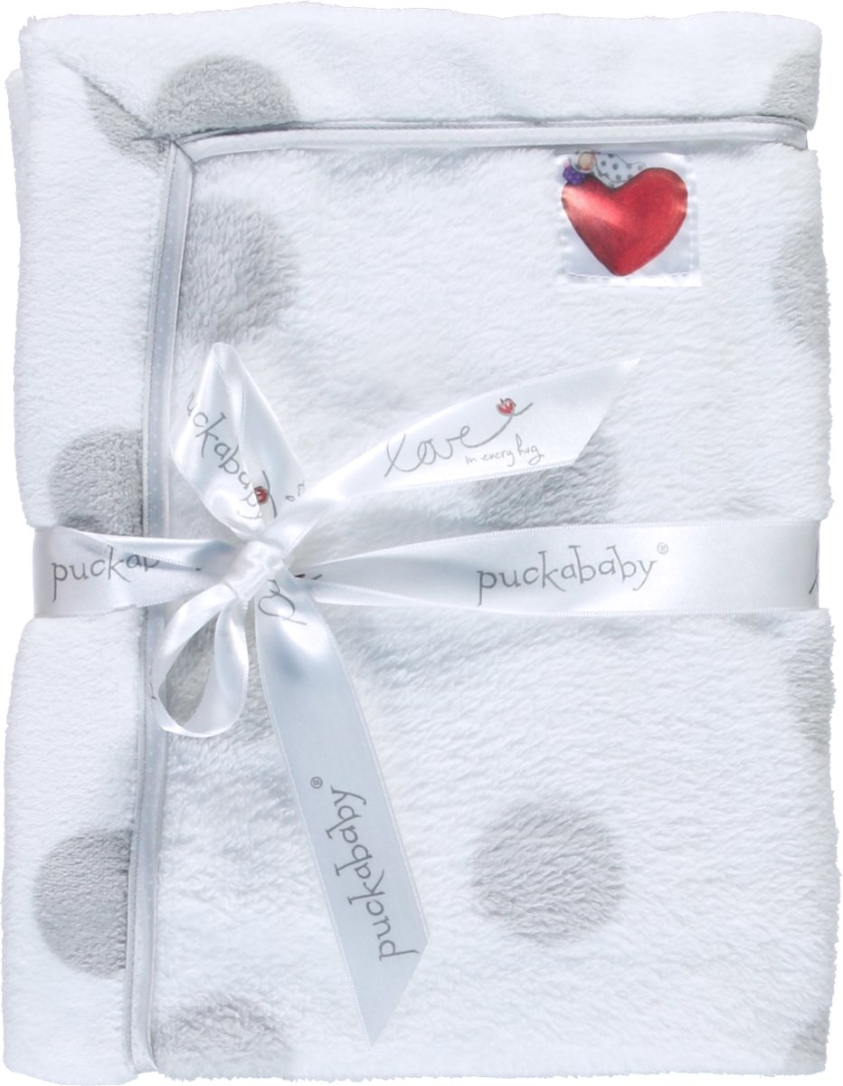 Puckababy Cover Baby - Wiegdeken Teddy 75x100 - Wit