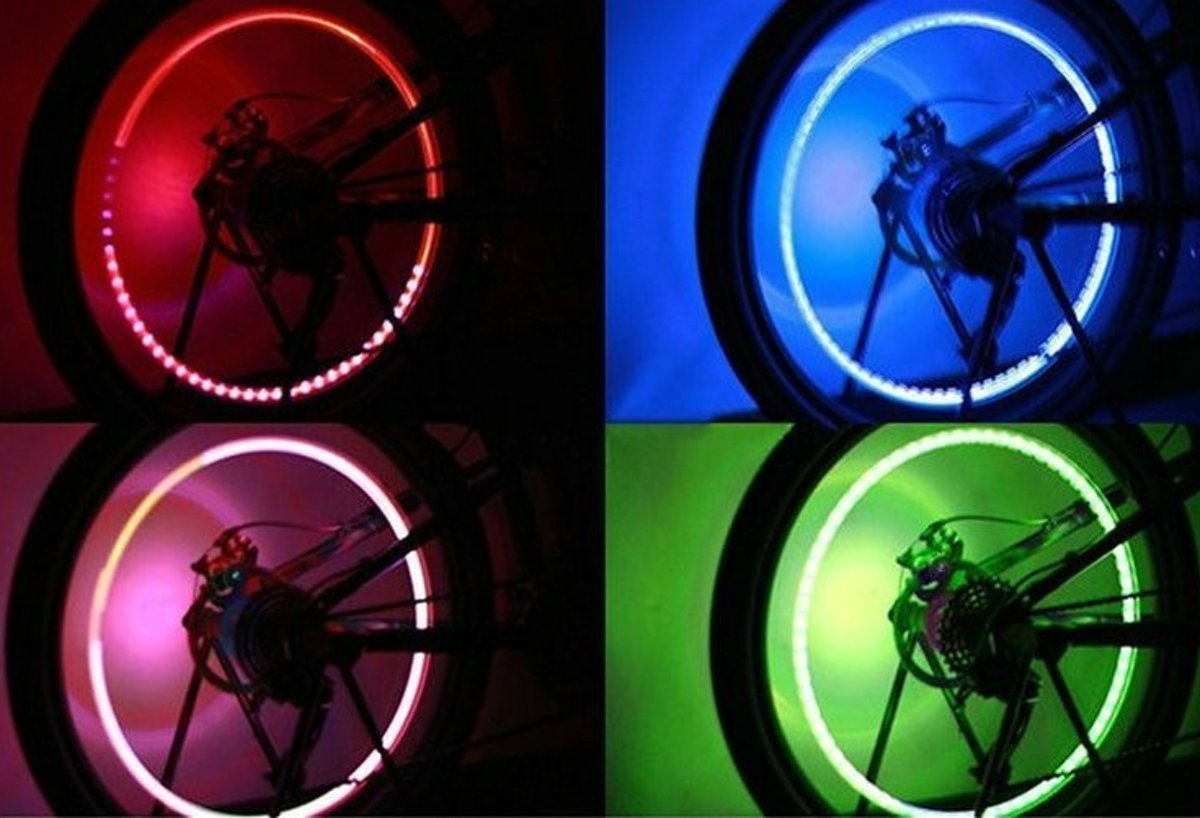 Licht In Fietswiel : Bol spaak licht led fietswiel kinderen spaakverlichting